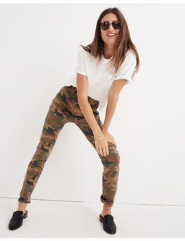 The Tall High Rise Slim Boyjean In Cottontail Camo by Madewell