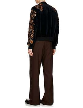 Embellished Cotton Velvet Bomber Jacket by Dries Van Noten