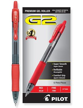 Pilot G2 Retractable Premium Gel Ink Roller Ball Pens Fine Pt (.7), Pink Pen With Black Ink; Retractable, Refillable & Premium Comfort Grip; Smooth Lines To The End Of The Page, America's #1 Selling Pen Brand by Pilot
