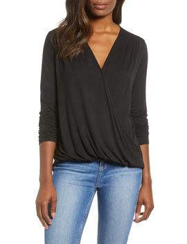 Surplice Knit Top by Gibson