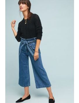 Mc Guire Fonda High Rise Cropped Wide Leg Jeans by Mc Guire