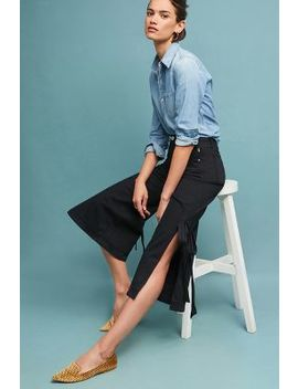 Mc Guire Tie Me Up High Rise Culotte Jeans by Mc Guire
