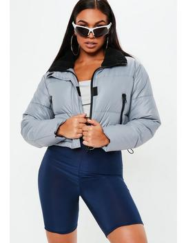 Grey Grop Oversized Puffer Jacket by Missguided