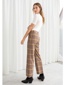 Plaid Kick Flare Trousers by & Other Stories