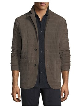 Quilted Suede Blazer by Billy Reid