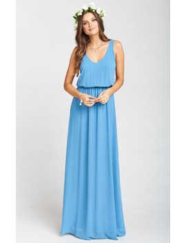 Kendall Maxi Dress ~ Coastal Blue Chiffon by Show Me Your Mu Mu
