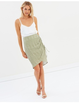 Iconic Exclusive   Sage Side Tie Skirt by Atmos&Here