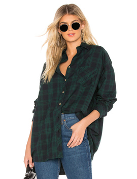 Audriana Oversized Flannel Top by By The Way.