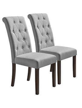 Merax Aristocratic Style Dining Chair Noble And Elegant Solid Wood Tufted Dining Chair (Set Of 2) by Merax