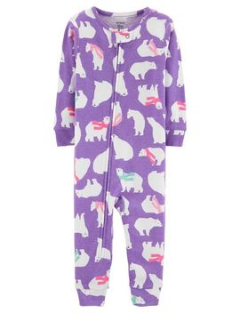 1 Piece Polar Bear Snug Fit Cotton Footless P Js by Carter's