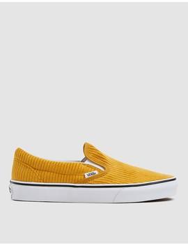 Corduroy Slip On Design Assembly Sneaker In Sunflower by Vans