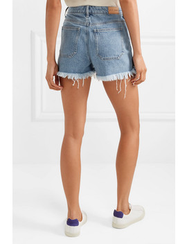 Halsy Frayed Denim Shorts by M.I.H Jeans