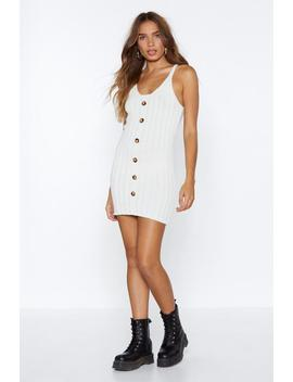 We Know We Button Knit Dress by Nasty Gal