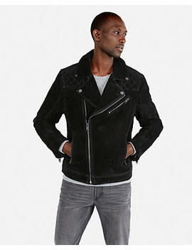 Genuine Suede Asymmetrical Moto Jacket by Express