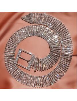 Unif Full Rhinestone Sexy Belts Women Cummerbunds Silver Shiny Diamond Party Club Crystal Waist Belt Accessories Chain Belt by Ali Express