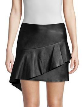Botan Leather Mini Skirt by Joie