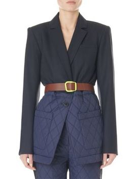 Quilted Combo Oversized Blazer by Tibi