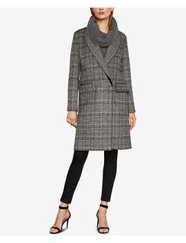 Valentina Double Breasted Plaid Coat by Bcbgmaxazria