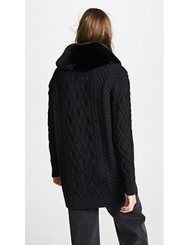Cardigan With Faux Fur Trim by Marc Jacobs
