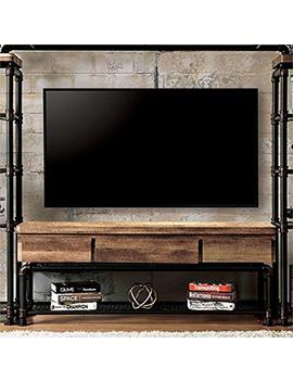 "Furniture Of America Jarod Industrial 60"" Tv Stand In Antique Black by Furniture Of America"