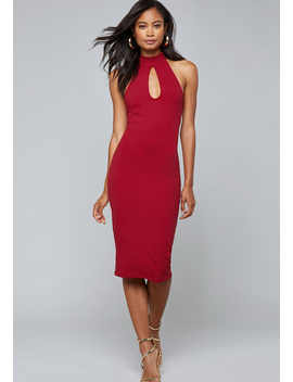 Strappy Back Midi Dress by Bebe