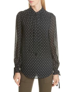 Ronli Print Silk Blouse by Joie