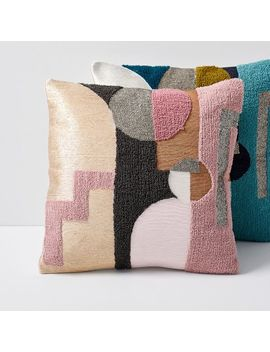 Embellished Deco Shapes Pillow Covers by West Elm