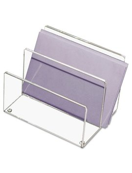 kantek-clear-acrylic-mini-sorter,-two-sections,-6-x-4-x-4-inches by kantek