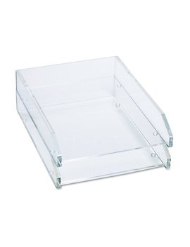 Double Letter Tray, Two Tier, Acrylic, Clear by Kantek