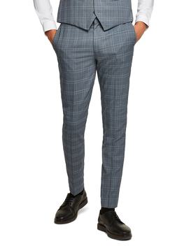 Check Skinny Fit Suit Trousers by Topman