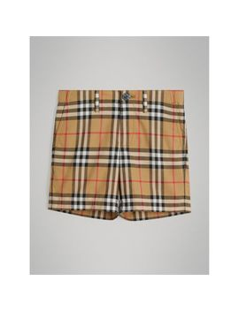 Vintage Check Cotton Tailored Shorts by Burberry