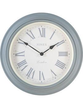 Grey Supper Club Clock 40x40cm by Jones