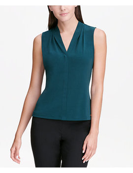Sleeveless V Neck Top by Calvin Klein