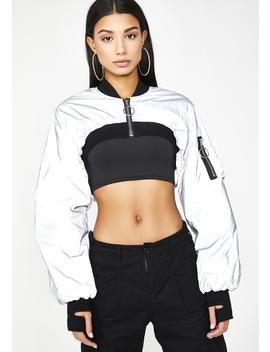 Feelin' Icy Reflective Bomber by Poster Grl