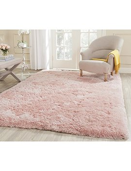 "Safavieh Arctic Shag Collection Sg270 P Handmade Pink Polyester Area Rug (5' X 7'6"") by Safavieh"