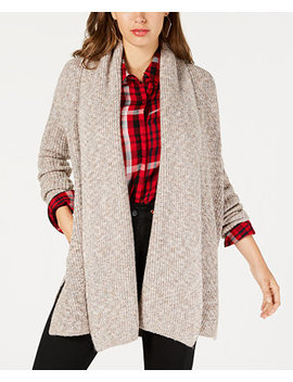 Draped Open Front Cardigan Sweater by Guess