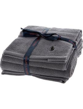 Grey Two Piece Towel Set by Ralph Lauren