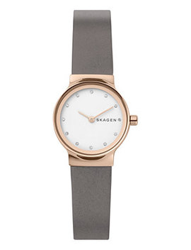 Women's Freja Gray Leather Strap Watch 26mm by Skagen
