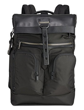 Men's Alpha Bravo London Roll Top Backpack by Tumi