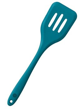 Star Pack Premium Silicone Turner Spatula/Slotted Spatula With Hygienic Solid Coating, Bonus 101 Cooking Tips (Teal Blue) by Star Pack Home