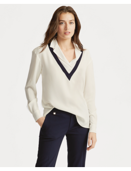 Layered Georgette Top by Ralph Lauren