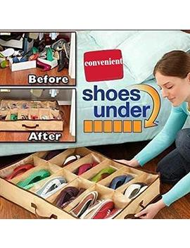 Loveje 12 Grid Shoes Storage Organizer Non Woven Fabric Shoebox Folding (Type1 12 Grid) by Loveje