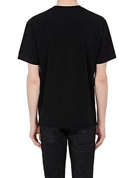 Smoking Lips Cotton T Shirt by Saint Laurent