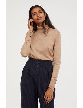 Cienki Sweter Z Golfem by H&M