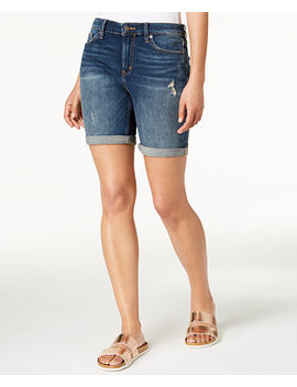 City Ripped Denim Shorts by Calvin Klein Jeans