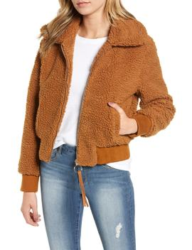 Faux Fur Bomber Jacket by Moon River