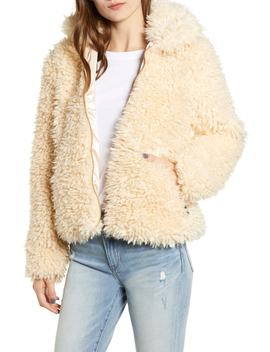 Bridget Faux Fur Puffer Jacket by Tiger Mist
