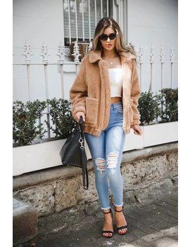 Withered Jacket Casaco Feminino England Style Solid Lambswool Pockets Zipper Regular Jackets Women Bomber Jacket Plus Size 2018 by Jennyand Dave