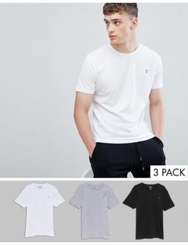Farah Merion 3 Pack Lounge T Shirts by Farah
