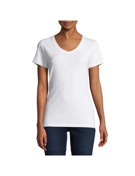 St. John's Bay V Neck  T Shirt   Tall by St. John`s Bay